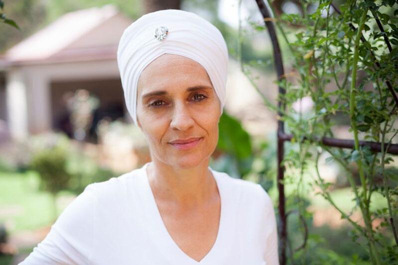 Itta Roussos aka Ravi Kaur in garden